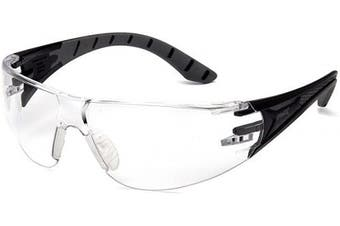 (Black/Grey Frame, Clear Anti-Fog Lens) - Pyramex Safety Endeavour Plus Durable Safety Glasses