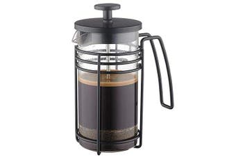 (1010ml, C-Style-Black) - ADAMITA French Press Coffee Maker 8 cups 1010ml 304 Stainless Steel Coffee Press with 4 Filter Screens, Easy Clean Heat Resistant Borosilicate Glass - Free 100% BPA…