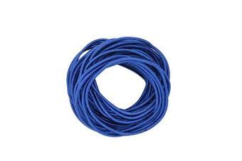 (Dark Blue) - Coobbar 100pcs Women Elastic Hair Ties Band Ropes Ring Ponytail Holder (Dark Blue)