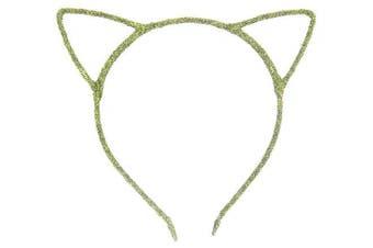 (Shining Green) - Bonnie Z. Leonardo Shining Cat Ears Headband Shining Green