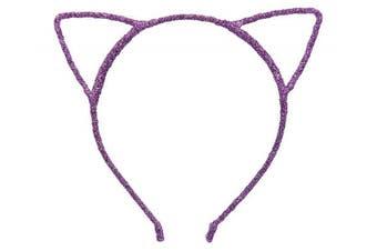 (Shining Purple) - Bonnie Z. Leonardo Shining Cat Ears Headband Shining Purple