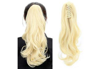 (Bleach Blonde) - Aicker Long Curly Wavy Claw Ponytail (Bleach Blonde)