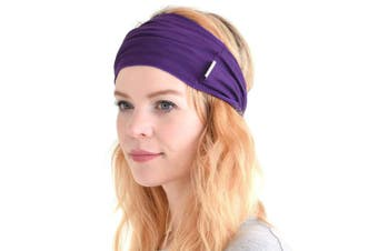 (Purple) - CHARM Casualbox | Mens Womens Elastic Bandana Headband Japanese Long Hair Dreads Head Wrap
