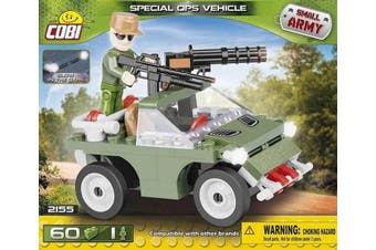 Cobi COB02155 Small Army - Special Ops Vehicle (60 Pcs) Toy, Various