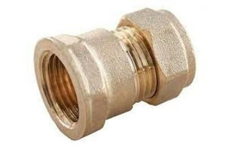 """(22mm x 1/2"""") - Compression x BSP Female Iron Adaptor Coupler Brass Fitting Choose Size - Please Cheque Size Chart Photo Concerning BSP Sizes (22mm x 1/2"""")"""