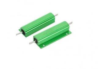 (100W-100ΩJ) - BULUSHI 100W 100 ohm Resistance Screw Mount Aluminium Shell Wirewound Resistor Green (100W-100ΩJ)