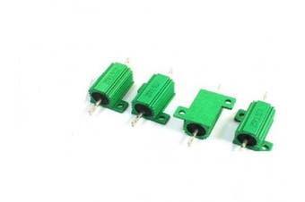 (25W-100ΩJ) - BULUSHI 25W-100 ohm Resistance Screw Mount Aluminium Shell Wirewound Resistor Green (25W-100ΩJ)