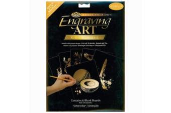 (Gold) - Royal Langnickel 20cm by 25cm Foil Engraving Art Blank Boards, Gold