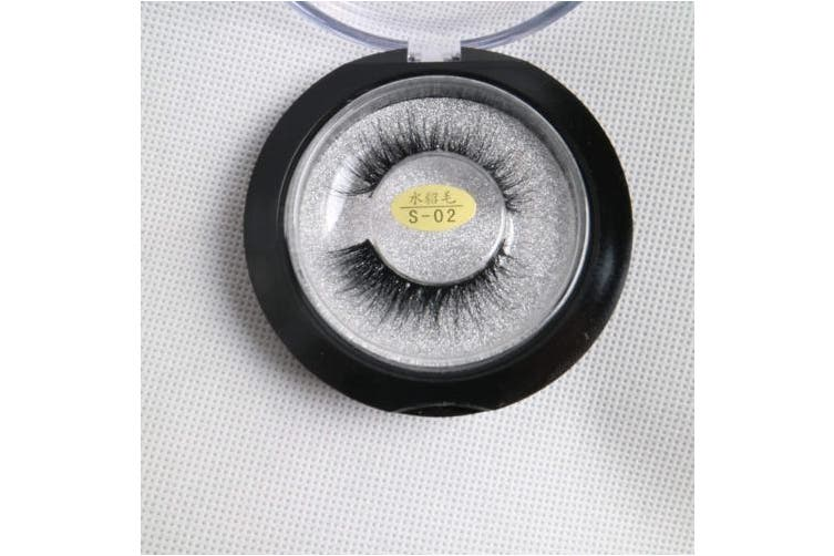 (M3D02, Black) - 3D Mink False Eyelashes Dramatic Reusable Comfortable Cruelty-free Handmade for Party or Professional