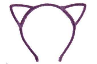 (Furry Sweet Purple) - Bonnie Z. Leonardo Furry Cat Ears Headband Purple