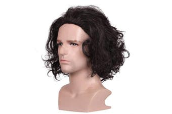 (Multi color) - ColorGround Short Curly Black Halloween Cosplay Wig