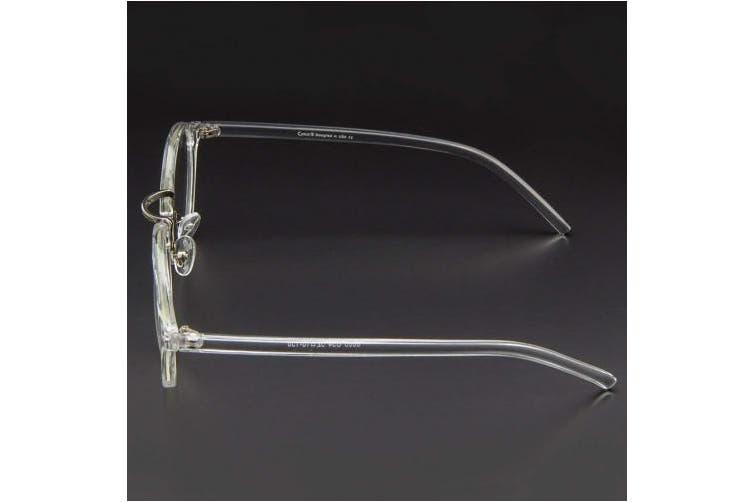 (Crystal) - Cyxus Blue Light Filter Computer Glasses Vintage Retro Round for Blocking UV Minimise Headache Sleep Better Anti Eye Eyestrain Fashion Frame, Unisex (Men, Women) (Crystal)