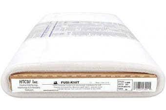 (White) - HTC Fusi-Knit Fusible Tricot Interfacing Tailoring Underlilne, 50cm by 30-Yard, White
