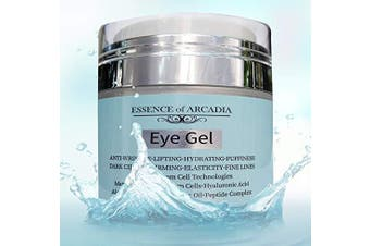 Eye Gel, for Dark Circles, Puffiness, Wrinkles, Skin Firming and Bags - Effective Anti-Ageing Eye Gel for Under and Around Eyes including Crows Feet with Hyaluronic Acid and Aloe Vera- 50ml