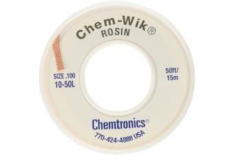 Chemtronics Desoldering Braid, Chem-Wik, Rosin, 10-50L 0.3cm , 15m