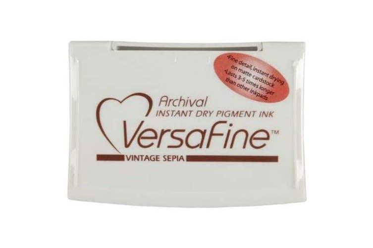 (Vintage Sepia) - Tsukineko Full-Size VersaFine Instant Dry Pigment Ink, Vintage Sepia