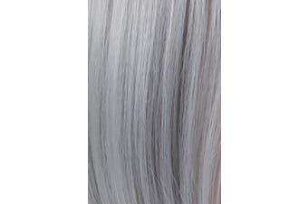 (Silver gray) - Annivia Silver Grey Short Bob Wig for Women 30cm Heat Resistant Synthetic Straight Wigs with Bangs Halloween Cosplay Party Wig Natural As Real Hair (Grey)
