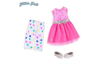 (Stay Sparkly!) - Glitter Girls by Battat - Stay Sparkly Dress & Leggings Regular Outfit - 36cm Doll Clothes & Accessories For Girls Age 3 & Up – Children'S Toys
