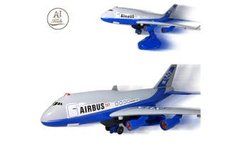 ANJ Kids Battery Operated Aeroplane Toy for Boys and Girls – Bump N Go, Ascending and Descending Modes with Realistic Sounds - Airbus Model Aeroplane – The Best Preschool Toy for Kids! (Age 3+)