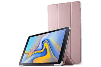 (SZ-Rose Gold) - IVSO Samsung Galaxy Tab A 10.5 SM-T590/T595 Cover Case, Slim Stand Smart PU Cover Case with Auto Wake/Sleep Function for Samsung Galaxy Tab A SM-T590/SM-T595 10.5 2018 Tablet, Rose Gold