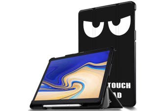(CH-Black Eye) - IVSO Samsung Galaxy Tab S4 10.5 T830N/T835N Cover Case, Slim Stand Smart PU Cover Case for Samsung Galaxy Tab S4 SM-T830N/T835N 27cm Tablet, Black Eye