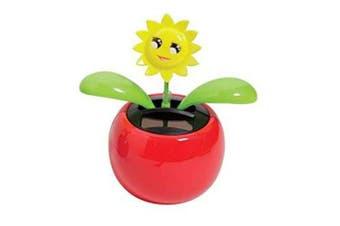 Naisidier Solar Powered Dancing Flower Happy Sunflower Car Decor for Car Dashboard Office Desk Decoration