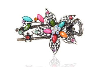 (Multicolor) - Buankoxy Women's Petal Crystal Hair Clips Hairpins- For Hair Clip Beauty Tools (Multicolor)