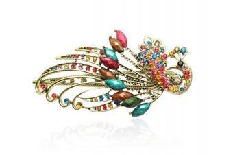 (Multicolor) - Buankoxy Women's Vintage Crystal Peacock Hair Clip Head Wear- For Hair Clip Beauty Tools (Multicolor)