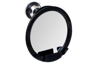 2018 Shatterproof Fogless Shower Mirror For Shaving with Razor Holder and Superior Sticky Suction-Cup, 20cm Diameter (Including Frame)