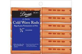 Diane Cold Wave Rods, Tangerine, 1.9cm , 12/bag