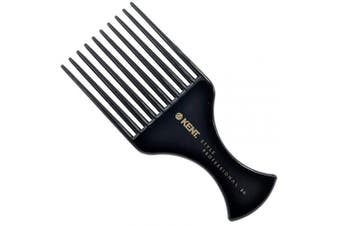 (SPC86) - Kent SPC86 Style Professional Afro Pick/Comb for Teasing and Lifting - Hard Rubber, Anti-static, Unbreakable & Heat Resistant, Salon & Barber Quality