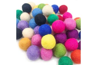 Felt Wool Balls Felt Ball Garland 2cm 100pc Mix Colour Pom Poms Garland Party Home Decor