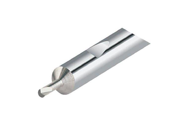 "Micro 100 QMBB-080600 Quick Change Miniature Boring Tool, Solid Carbide Tool, 0.080""(2.03 mm) Minimum Bore Diameter, 0.600"" (15.2 mm) Maximum Bore Depth, 0.020"" (0.51 mm) Projection, 0.1875"" (4.8 mm) Shank Diameter, 2""(51 mm) Overall Length"