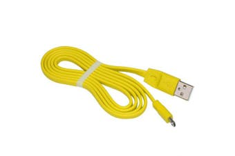 (Yellow) - Aquelo Replacement Charging Cord Compatible UE Boom Bluetooth Speaker PC/DC Micro USB Charge Cable (Yellow)