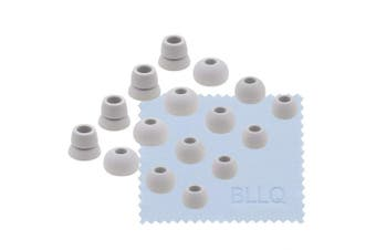 (Gray) - BLLQ Grey Replacement Earbuds Tips with Storage Box for Beats Powerbeats Headphones -Small, Medium, Large & Double Flange 4 Size Options Ear Tips 16PCS 8 Pairs for Powerbeats3 Grey pbg16