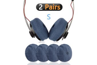 (Pink) - Geekria Sweater Earpads Cover for Sennheiser Momentum Over-Ear, Momentum On-Ear, Y50BT Headphones/Stretchable Knit Fabric Earcup Protectors/Fits 4cm - 8cm Headset Ear Cushions (Blue)