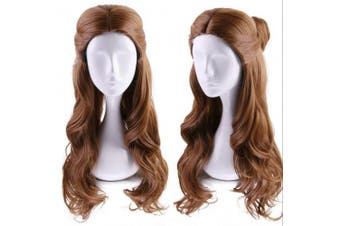 (Belle) - Ani·Lnc Long Wave Brown Movie Costumes Cosplay Wigs for Women Wigs