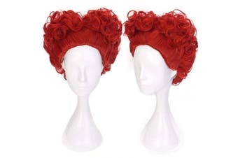 (Red Queen) - Ani·Lnc Short Red Curly Synthetic Cosplay Hair Wigs For Women