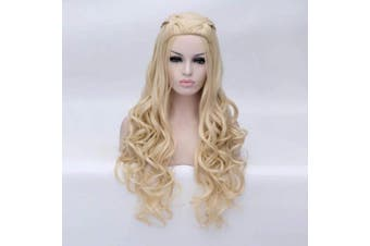 (Blonde) - BUFASHION New Arrival Game of Thrones Daenerys Inspired Blonde Hair Cosplay Hair wigs