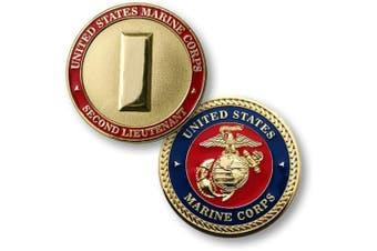 U.S. Marines Corps Second Lieutenant Challenge Coin