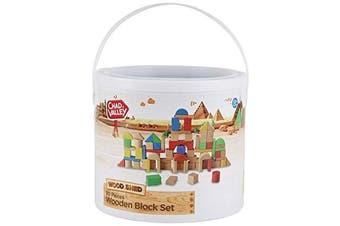 PlaySmart Wooden Block Set Chad Valley 80 Pieces