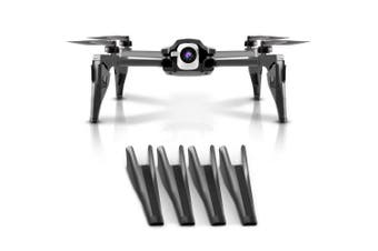 (Black) - PENIVO 4pcs Feet Set Upgrade 4cm Height Extender Landing Gear for Parrot Anafi 4k HDR Drone Camera Protector Gimbal Accessories (Black)