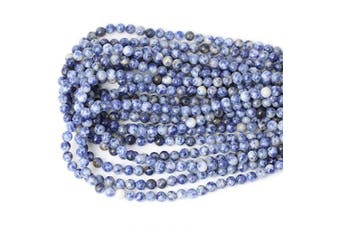 (6mm, Blue White Sodalite) - CHEAVIAN 60PCS 6mm Natural Blue White Sodalite Gemstone Round Loose Beads for Jewellery Making 1 Strand 15""