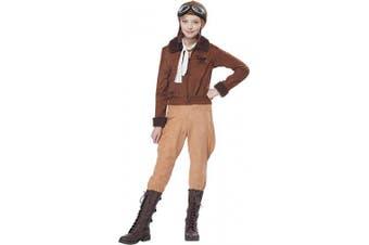 (Medium) - Amelia Earhart Costume for Kids