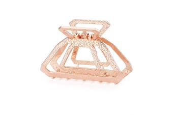 (Rose Gold) - Cottvott Vintage Metal Hollow Square Hair Claws Clips Women's Hair Accessories 3Colors (Rose Gold)
