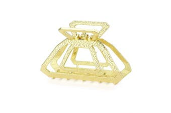 (Gold) - Cottvott Vintage Metal Hollow Square Hair Claws Clips Women's Hair Accessories 3Colors (Gold)