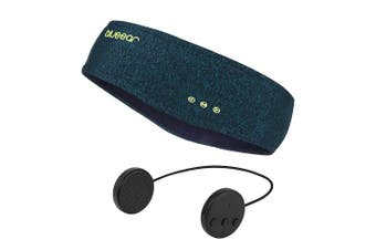 (H12 Dark Green) - blueear Bluetooth Headband Headphones Wireless Sleepphone Sports Sweatband Hairband