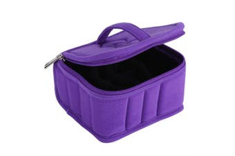 (Purple) - Essential Oils Storage, 30 Bottle Essential Oil Carrying Case Essential Oil Organiser Bag Travel Case For 15ml Oils (Purple)
