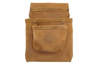 Graintex OS2317 3 Pocket Nail & Tool Pouch Oil Tanned Leather