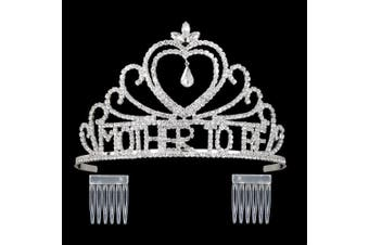 (Clear / Silver) - DcZeRong Mom To Be Tiara Crown Women Baby Shower Tiara Mother To Be Party Pageant Prom Tiara Crowns